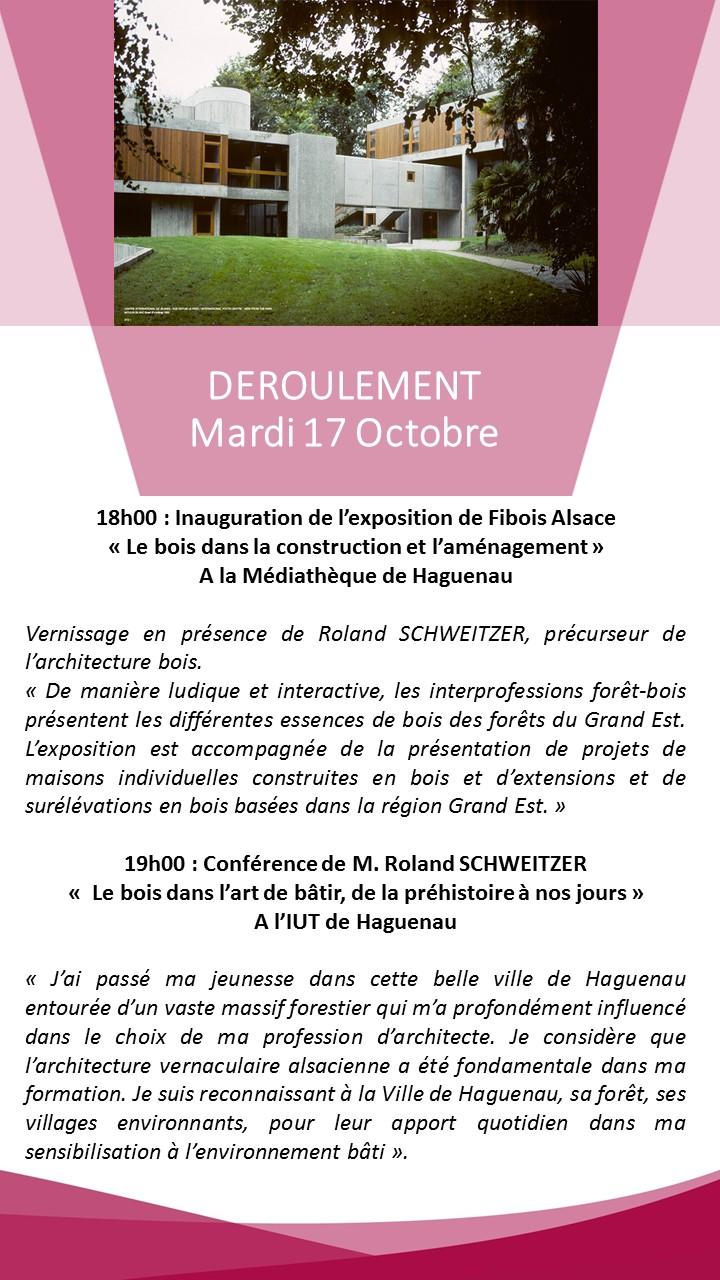 Conférence de Roland Schweitzer le 17 octobre 2017 à l'IUT de Haguenau.
